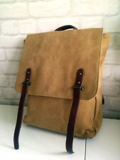 ♥ASOS Unisex Stone & Faux Leather Military Style Rucksack Backpack Bag RRP £30♥