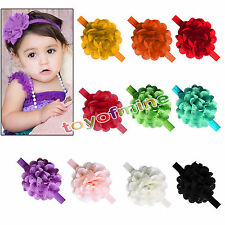 Hot Cute Kids Girl Baby Headband Toddler Lace Bow Flower Hair Band Accessories