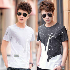 1 Men Boy Summer Tees Shirt Short Sleeve 3D Star Printed T-Shirt Clothes Elegant