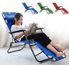 Lounge Chairs Recliner Reclining Outdoor Beach Patio Garden Folding Chair USA