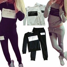 Femme Tracksuit Vêtement Pull Veste Pantalon Manteau Sport Top Baggy Jogging gym