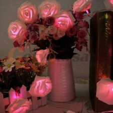 20LED Rose Flower Fairy String Lights Wedding Garden Party Christmas Decoration
