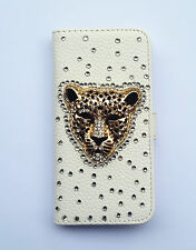 Bling Luxury Leopard PU leather wallet card holder flip cover case For Samsung 1
