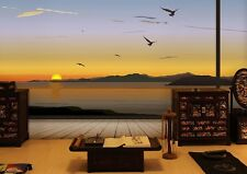 3D Sunset Pian 1 Wall Paper Wall Print Decal Wall Deco Indoor wall Murals