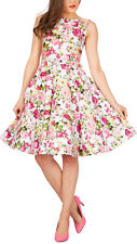 Audrey Hepburn Style Floral Vintage Divinity 1950s Rockabilly Swing Pin Up Dress