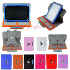 "360° Rotating Leather Stand Case Cover For Universal  7"" 8"" 9"" 10"" 10.1"" Tablet"