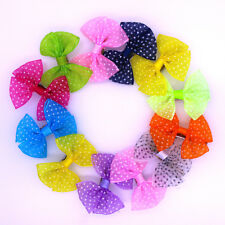 2017 New Lace Bows Pet Hair Clips Dog Hair Bows Dog Grooming Hair Accessories