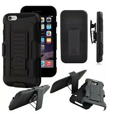 New Hybrid Armor Hard Rugged Holster Case Belt Clip Stand Cover For Cell Phone