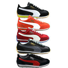 Puma Whirlwind Classic Mens Trainers Suede Leather Black Orange Red 351293