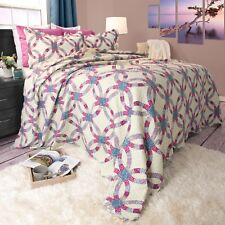 King Size Lightweight Quilt Bedspread Colorful Options Peace