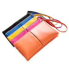 Women Leather Long Bifold Purse Zipper Clutch Handbag Wallet Evening Card Bag