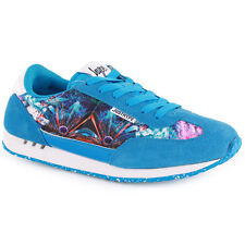 Just Hype Runner Womens Mens Trainers Suede Blue New Shoes 3 4 5 7 8 UK