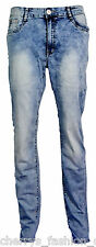 NEW LADIES SKINNY FIT Faded Denim STRETCHY JEANS WOMENS JEGGING TROUSER 14-24