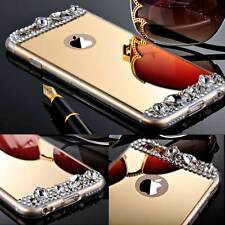 Fashion New Crystal Diamond Rubber Mirror Case Slim Cover For iPhone 5 5S 6 Plus
