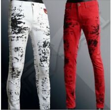 Mens Fashion Denim Top Designed Casual Trousers Slim Fit Skinny Jeans Long Pants