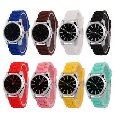Women Silicone Wrist Watch Rubber Jelly candy color Quartz Casual Sports Watches