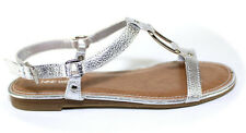 Nine West Miamorda Silver Synthetic Low Heel Ankle Strap Buckle Sandals