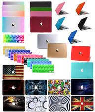 "Rubberized Hard Case Shell +KeyCover for Macbook 12""Pro 13/15"" Air 11/13""inch"