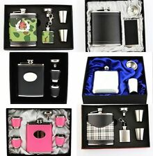 7oz Portable Stainless Steel Flask Alcohol Whiskey Liquor Wine Pot Flagon Set