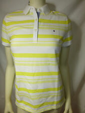 TOMMY HILFIGER womens yellow multi polo shirt tee top new nwt