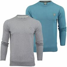 Mens Jumper Bench 'Hydriant' Cotton Knit Sweater Crew Neck Long Sleeved