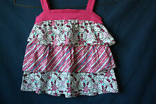 Hello Kitty Sanrio Child Size 6 Top Pink and White Ruffles Pink Band