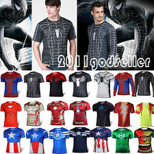 Marvel Superhero Avengers T-shirts Hommes Sports Cyclisme T-Top Chemises Jersey