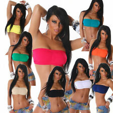 NEW BANDEAU PUSH UP TOP TUBE-TOP BUSTIER 32,34,36 38 7-COLORS SHIRT GOGO