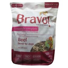 Bravo! FREEZE DRIED HOMESTYLE COMPLETE Beef Dinner Dog Food 2 lbs