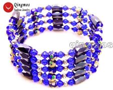 SALE Blue 6mm round Cloisonne Hematite Magnetic Beads necklace /Bracelet-br281