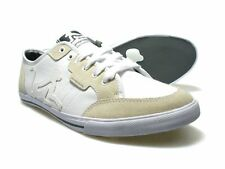 DRUNKNMUNKY Mens New England Classic White Trainers RRP £60 Free Uk P&P