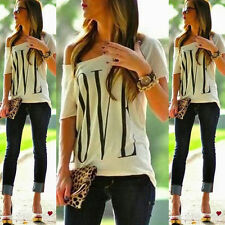 New Fashion Women Sexy OFF Shoulder Short Sleeve Casual Tops T- Shirt Blouse