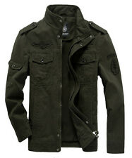 New Men's thin jacket collar embroidery cotton coat military jackets trench coat