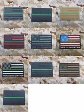 The thin Green line America flag These Colors Don't Run 3D PVC Patch