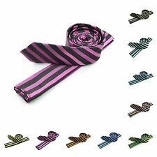 Mens Slanted Subtle Striped Woven Fashion Designer Microfiber Tie Necktie Ties
