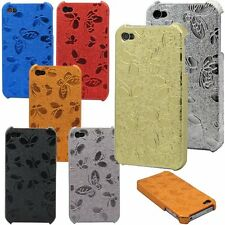 for iphone 4 4S embossed butterfly hard case black orange red silver blue gold