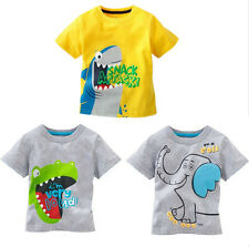Pop Baby Child Kids Boys Summer Cartoon Pattern Tops T-shirt Clothes 1-6Y INA