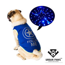 LED Five-pointed Star Design Pet Dog Vest Puppy Clothes for Night Safety Walking