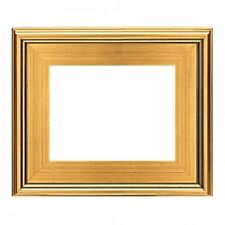 "CLASSIC MODERN STYLE PICTURE ART PAINT FRAME PLEIN AIR WOOD GOLD LEAF 3"" WIDE 01"