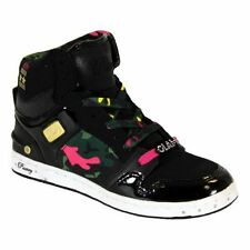 New Pastry Glam Pie Trainers Military Camo Black Pink Gold Womens Hi-Tops 4-7.5