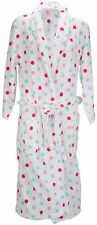 Anucci Soft Fleece White Spotty Dressing Gown