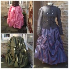 VICTORIAN STEAMPUNK COSPLAY FULL LENGTH TAFFETA SKIRT BALL GOWN S M L XL