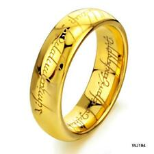 The Lord Of The Rings Tungsten carbide Men Bands Wedding Band Finger Gold Jewel
