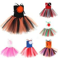 Baby Toddler Infants Girls Sweet Cute Party Chiffon Tutu Dress Newborn 0-5 T G76