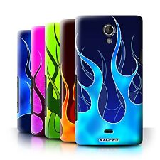 STUFF4 Back Case/Cover/Skin for Sony Xperia T/LT30/Flame Paint Job