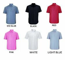 Mens Short Sleeve Formal Shirts Size S to 3XL WORK CASUAL / WAREHOUSE STOCK BTC