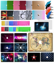"3in1)Rubberized Hard Case Laptop Cover For Macbook 12""Pro13""15 Retina Air11""/13"""