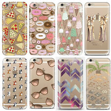 """Transparent Soft Silicone TPU Case Cover Printed Design For iPhone 5S 5C 6 4.7"""""""