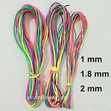 Chinese Knot Rainbow Satin Braided Cord Thread Macrame Beading Rattail cords