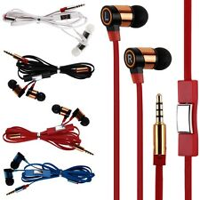 Stereo 3.5mm In Ear Headphone Earphone Headset Earbud +Mic for Phone iPod MP4 PC